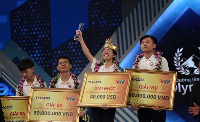 Cuộc thi chung kết năm đã tìm được nhà vô địch là nữ sinh đến từ Ninh Bình. Ảnh: Giáo dục và Thời đại.