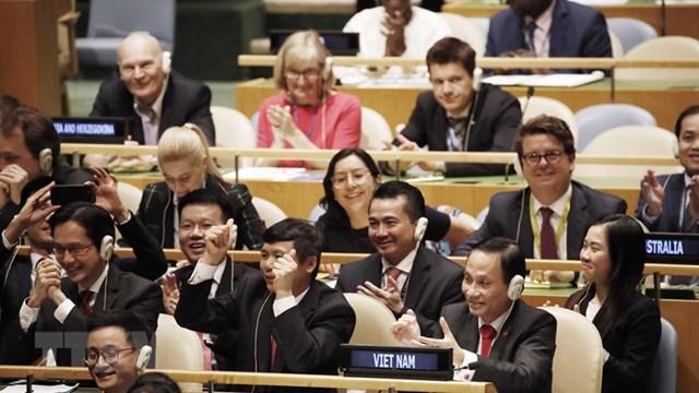 Tối 7/6/2019 (giờ Việt Nam), Chủ tịch Đại hội đồng Liên hợp quốc đã công bố Việt Nam chính thức trở thành ủy viên không thường trực Hội đồng Bảo an Liên hợp quốc nhiệm kỳ 2020-2021. Theo kết quả bỏ phiếu, có tổng cộng 192 trên tổng số 193 quốc gia, vùng l.