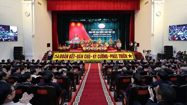 Đại hội Đảng bộ tỉnh Hà Nam.