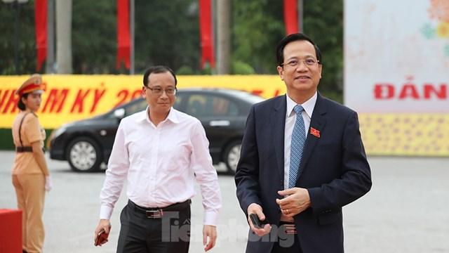 Bộ trưởng Bộ Lao động Thương binh và Xã hội Đào Ngọc Dung đến dự Đại hội.