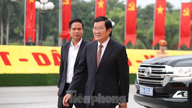 Nguyên Chủ tịch nước Trương Tấn Sang dự Đại hội.