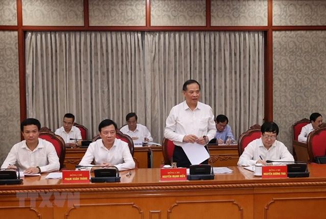 Hình ảnh Bộ Chính trị làm việc với các Đảng bộ trực thuộc Trung ương - Ảnh 6