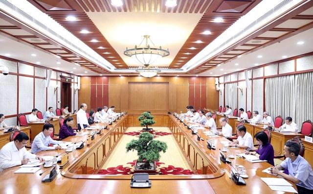 Hình ảnh Bộ Chính trị làm việc với các Đảng bộ trực thuộc Trung ương - Ảnh 11