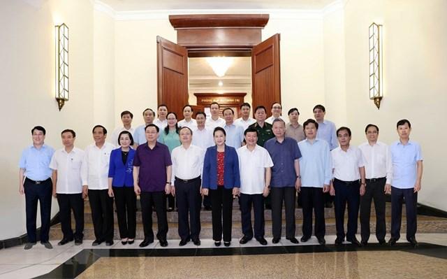 Hình ảnh Bộ Chính trị làm việc với các Đảng bộ trực thuộc Trung ương - Ảnh 8