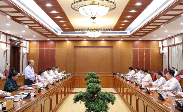 Hình ảnh Bộ Chính trị làm việc với các Đảng bộ trực thuộc Trung ương - Ảnh 3