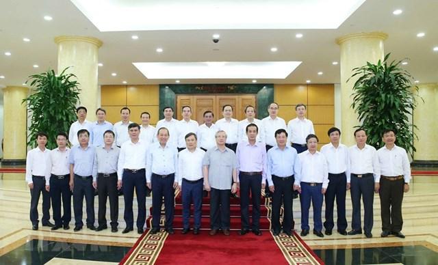 Hình ảnh Bộ Chính trị làm việc với các Đảng bộ trực thuộc Trung ương - Ảnh 12