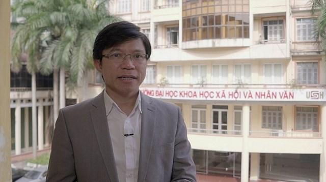 GS.TS Hoàng Anh Tuấn,Phó Hiệu trưởng ĐH Khoa học Xã hội và Nhân văn, ĐH Quốc gia Hà Nội.Ảnh: Báo Xây dựng.
