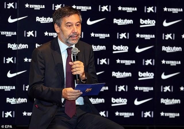Chủ tịch Barcelona, Joseph Bartomeu.