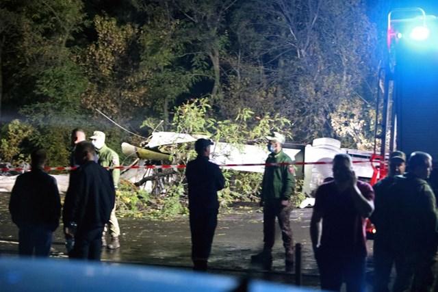 Hiện trường vụ tai nạn máy bay ở Ukraine. Ảnh: Reuters.