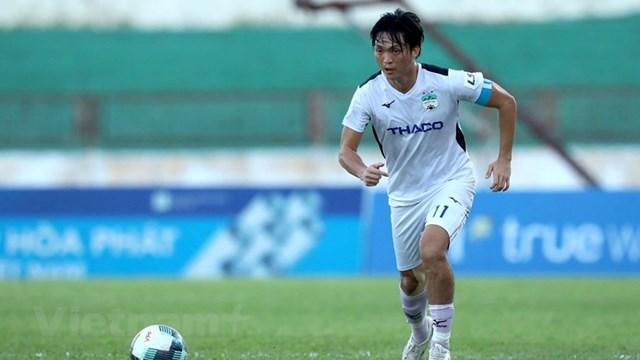 Hoàng Anh Gia Lai đứng trước nguy cơ bị văng khỏi nhóm 8 đội dẫn đầu sau giai đoạn một. (Ảnh: Kim Chi/Vietnam+).