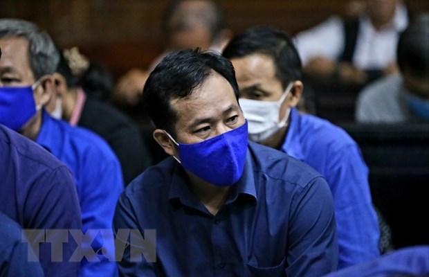 Bị cáo Trần Văn Tâm, nguyên Tổng giám đốc Công ty lương thực Trà Vinh. (Ảnh: TTXVN).