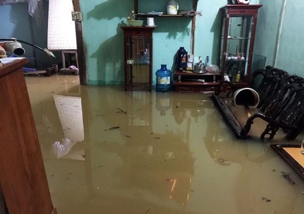 Nhà dân bị ngập nước. (Nguồn: Báo Lào Cai).