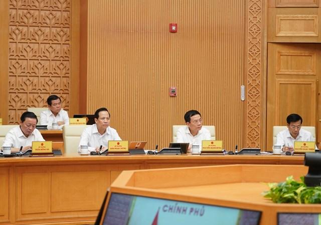 Các thành viên Chính phủ tham dự phiên họp. Ảnh: VGP.