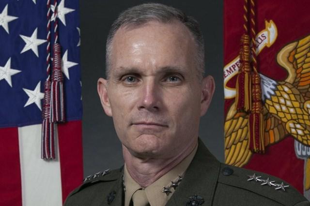 Tướng Thủy quân Lục chiến Mỹ Gary Thomas (Ảnh: AP).