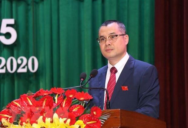 Ông Phạm Đại Dương tái đắc cử Bí thư Tỉnh ủy Phú Yên khóa XVII, nhiệm kỳ 2020-2025. Ảnh: TTXVN.