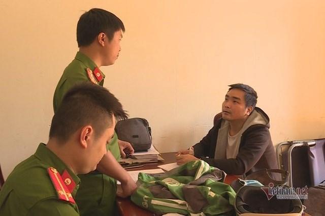 Bị canLong Thanh Tú thời điểm bị công an bắt giữ.