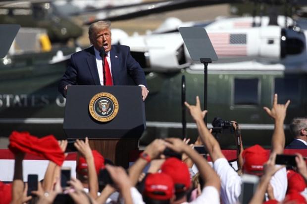 Tổng thống Donald Trump vận động tranh cử. (Nguồn: Getty Images).