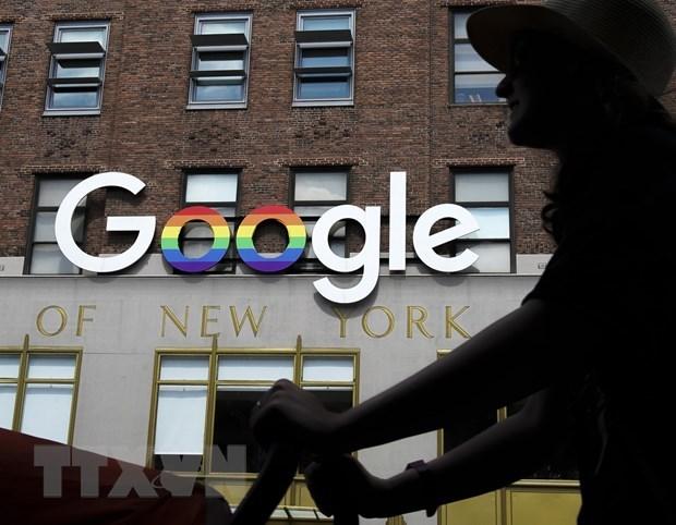 Biểu tượng Google tại New York, Mỹ. (Ảnh: AFP/TTXVN).