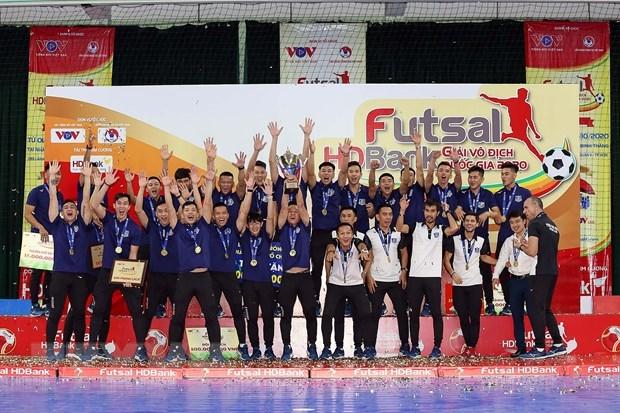Thái Sơn Nam lên ngôi vô địch lần thứ 10. (Ảnh: Thanh Vũ/TTXVN).