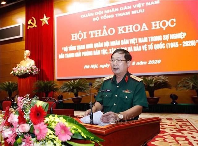 Thượng tướng Lê Huy Vịnh, tân Thứ trưởng Bộ Quốc phòng (khi còn là Trung tướng). Ảnh: TTXVN.