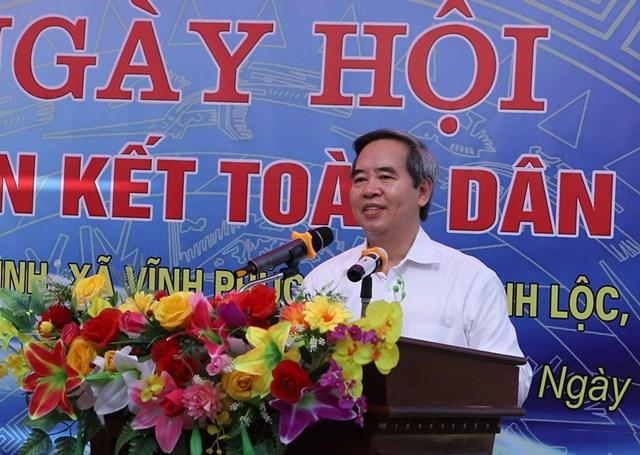 Trưởng ban Kinh tế Trung ương chung vui Ngày hội Đại đoàn kết toàn dân tộc tại thôn Đồng Minh - 1