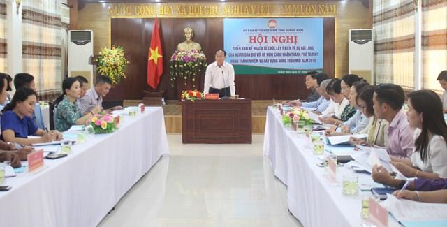Mặt trận Quảng Nam lấy ý kiến của người dân về TP Tam Kỳ đạt chuẩn nông thôn mới