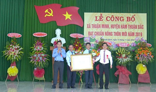 Bình Thuận: Xã Thuận Minh đạt chuẩn nông thôn mới