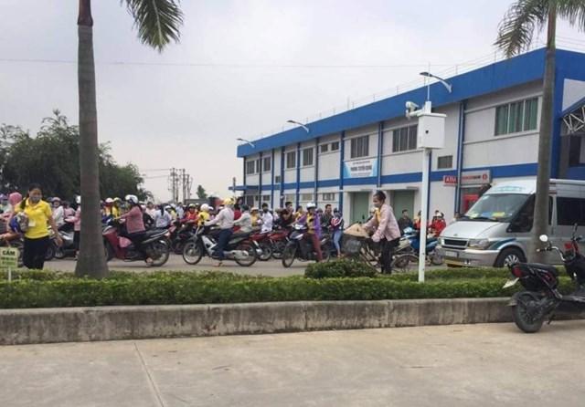 Công nhân bị ngộ độc hô hấp, nhà máy giày da vốn Trung Quốc tạm đóng cửa - 1