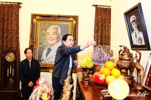 Chủ tịch Trần Thanh Mẫn thăm, chúc Tết nguyên lãnh đạo Đảng, Nhà nước, MTTQ Việt Nam - 3