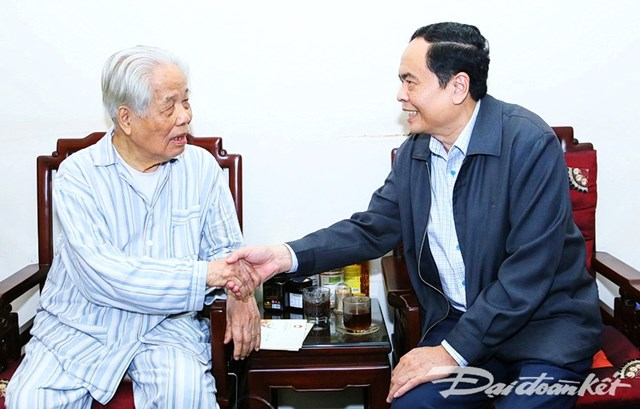Chủ tịch Trần Thanh Mẫn thăm, chúc Tết nguyên lãnh đạo Đảng, Nhà nước, MTTQ Việt Nam