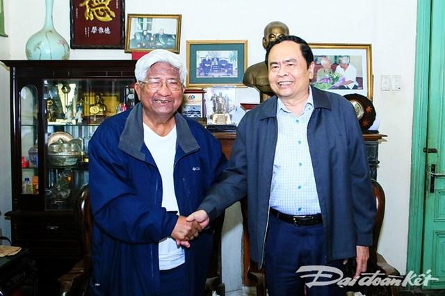 Chủ tịch Trần Thanh Mẫn thăm, chúc Tết nguyên lãnh đạo Đảng, Nhà nước, MTTQ Việt Nam - 2