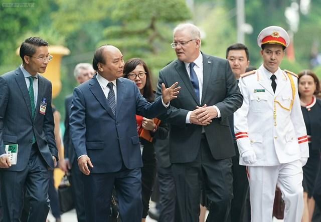 [ẢNH] Thủ tướng Nguyễn Xuân Phúc đón, hội đàm với Thủ tướng Australia - 2