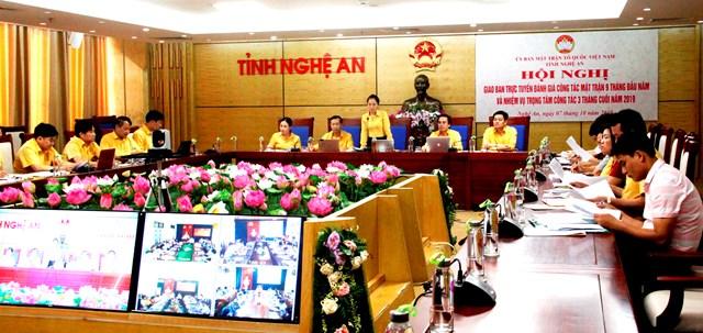 Nghệ An: Lần đầu tiên tổ chức Hội nghị trực tuyếnMTTQ tỉnh