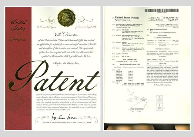Ứng dụng trong hệ thống tính cước thời gian thực của Viettel được cấp bằng bảo hộ độc quyền tại Mỹ