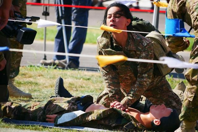 [ẢNH] Những 'bông hồng thép' tại Hội thao Quân sự quốc tế -  International Army Games 2019 - 2