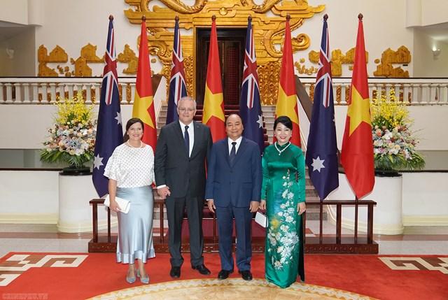 [ẢNH] Thủ tướng Nguyễn Xuân Phúc đón, hội đàm với Thủ tướng Australia - 4