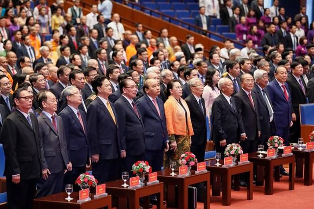 [ẢNH] Lãnh đạo Đảng, Nhà nước dự Khai mạc Đại hội toàn quốc MTTQ Việt Nam lần thứ IX - 8