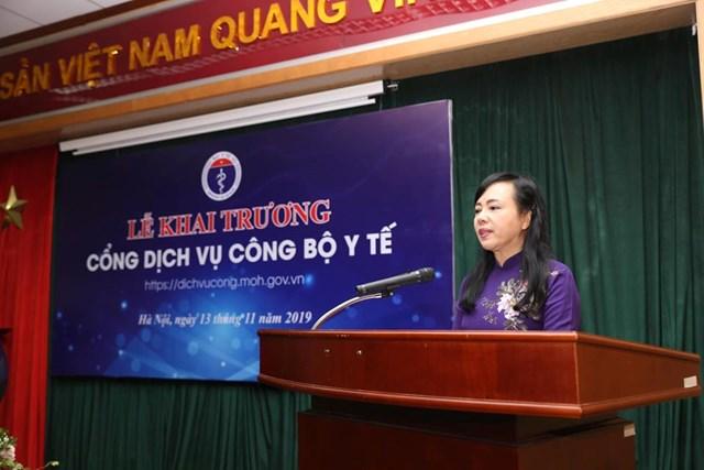 Bộ Y tế khai trương Cổng dịch vụ công