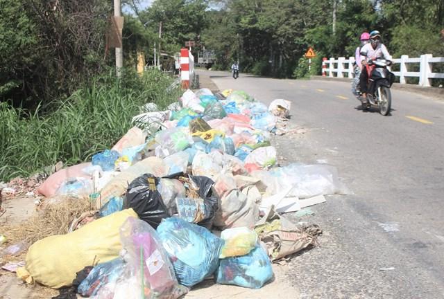 Quảng Nam: Rác thải tràn ngập khu dân cư - 1