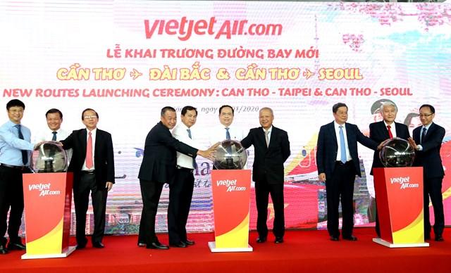 Chủ tịch Trần Thanh Mẫn dự khai trương 2 đường bay Cần Thơ - Seoul/ Đài Bắc - 1
