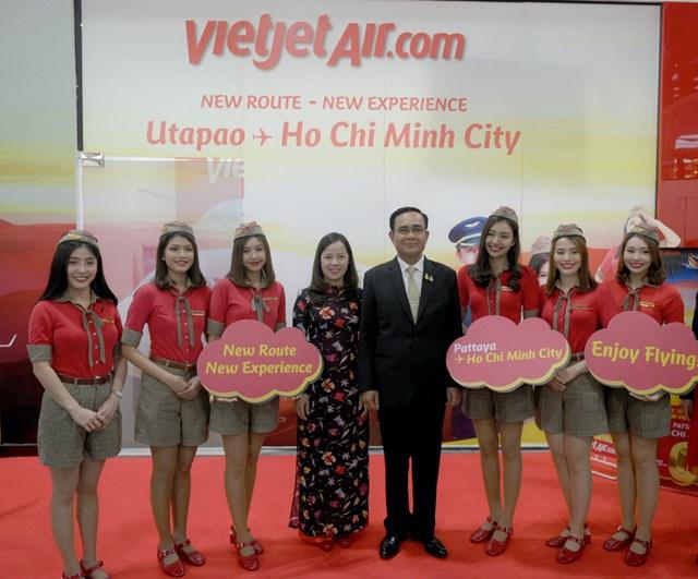 Thủ tướng Thái Lan chúc mừng Vietjet tại lễ ra mắt đường bay TP HCM - Pattaya - 1