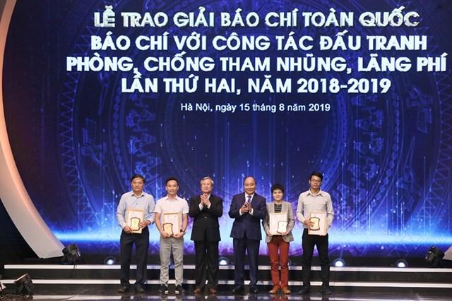 [ẢNH] Lễ trao giải 'Báo chí với công tác đấu tranh phòng, chống tham nhũng, lãng phí' lần thứ hai  - 3
