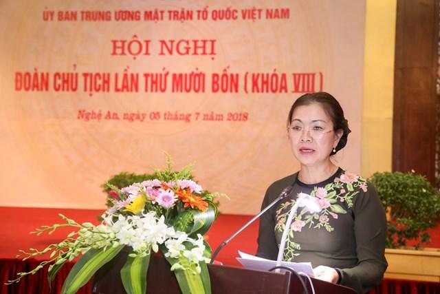 Khai mạc Hội nghị Đoàn Chủ tịch UBTƯ MTTQ Việt Nam lần thứ 14 - 9