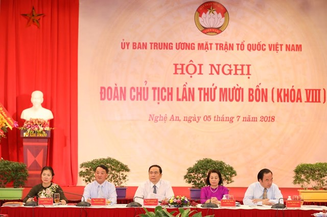 Khai mạc Hội nghị Đoàn Chủ tịch UBTƯ MTTQ Việt Nam lần thứ 14 - 6