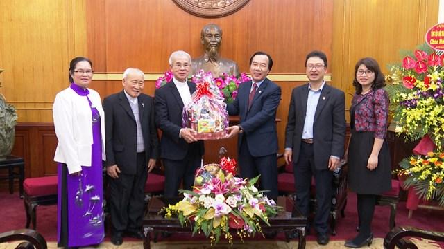 Ủy ban Đoàn kết Công giáo Việt Nam chúc Tết Mặt trận Trung ương