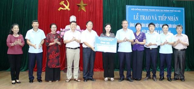 Hội đồng hương Thanh Hóa tại Hà Nội ủng hộ người dân vùng lũ 200 triệu đồng