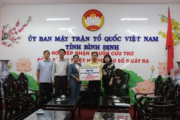 Bình Định: Tiếp nhận ủng hộ đồng bào bị thiệt hại trong cơn bão số 5 - 1