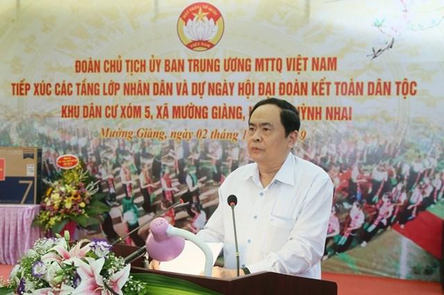 BẢN TIN MẶT TRẬN: Chủ tịch Trần Thanh Mẫn dự Ngày hội Đại đoàn kết tại Sơn La