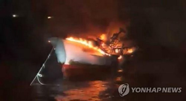 Vụ cháy tàu ở đảo Jeju của Hàn Quốc: Công bố danh tính 5 thuyền viên người Việt mất tích