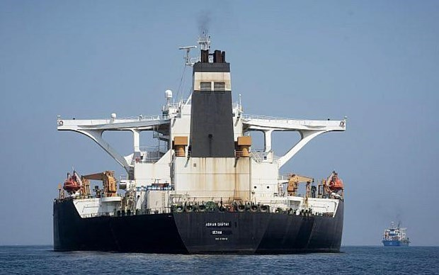 Mỹ trừng phạt siêu tàu chở dầu Adrian Darya 1 của Iran
